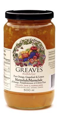 Greaves Three Fruit Marmalade 500ml