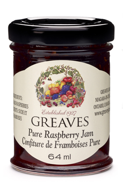 Greaves Mini Raspberry Jam 64ml